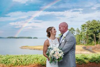 Lake Lanier Islands Wedding Rainbow