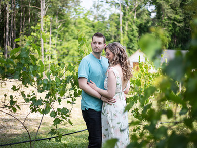 Engagement Photos in the Vineyard