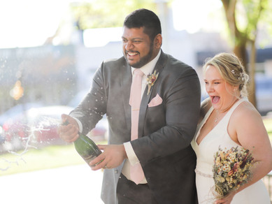 Downtown Lawrenceville Spring Wedding