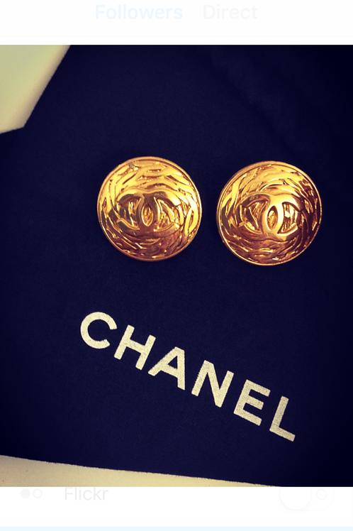Oversized CHANEL Gold Bling Earrings