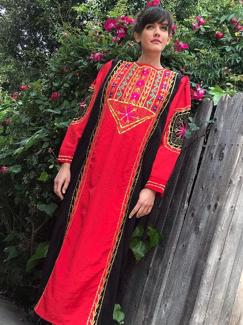 Moroccan Embroidered Maxi Kaftan