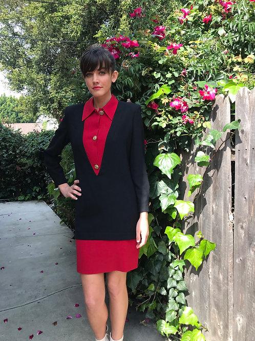 NINA RICCI Timeless Red + Black Dress