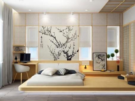 ห้องนอนสไตล์ใหม่ พื้นไม้กับเตียงเตี้ย แบบเตียงญี่ปุ่น