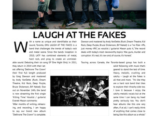 Laugh At The Fakes feature in BWD Magazine