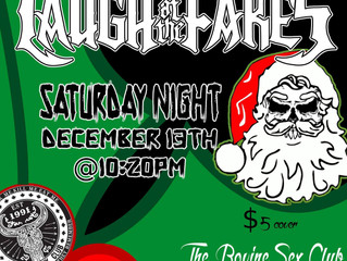 Our last show of the year is at The Bovine Sex Club on Saturday December 13th!