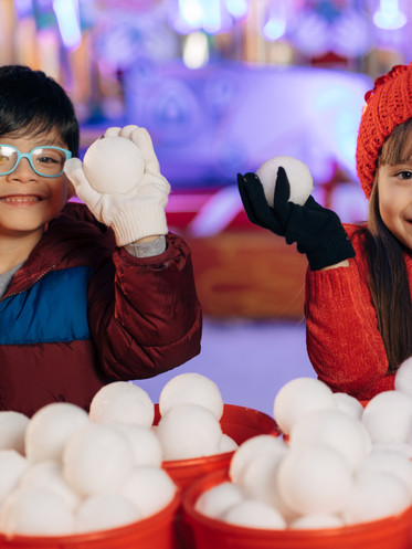 Throw snowballs made of REAL snow!