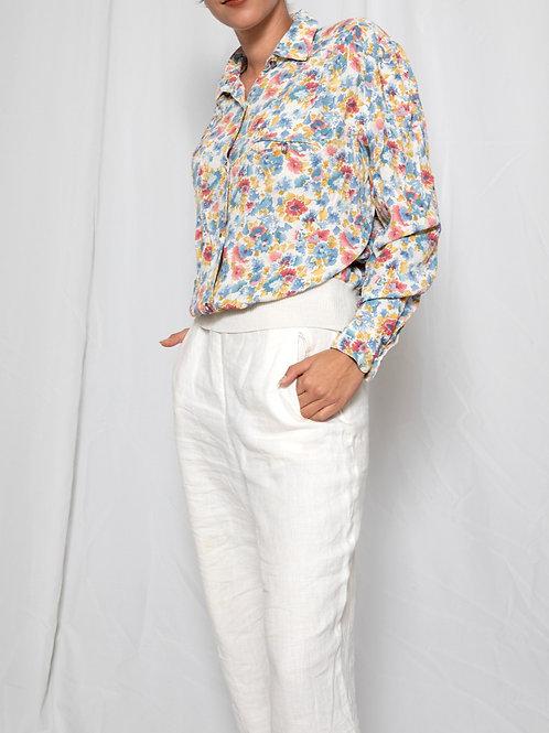 Floral buttoned shirt