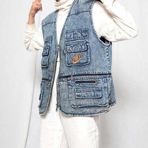 80s Nike Jeans Vest