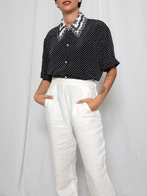 Black & White polka dots shirt