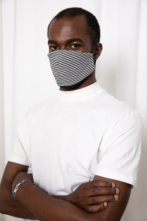 Black & Stripes Mask