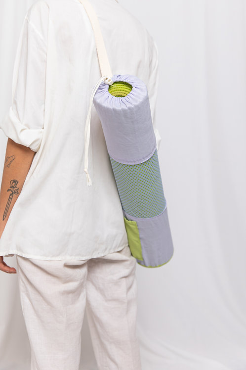 Violet Green Yoga Bag