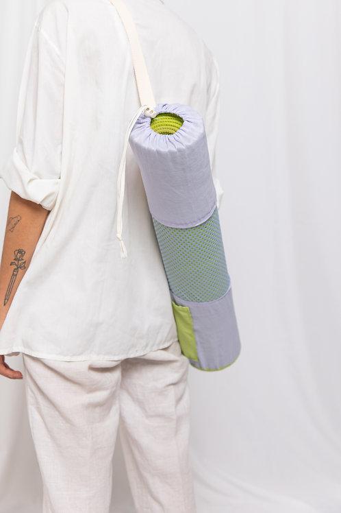 Violet Green Yoga Bag