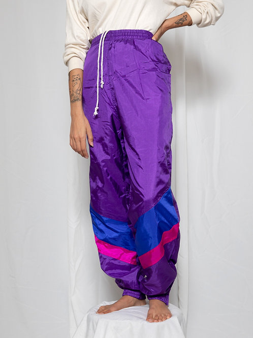 Purple Nylon Pants