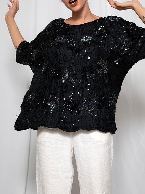 Silk sequined shirt