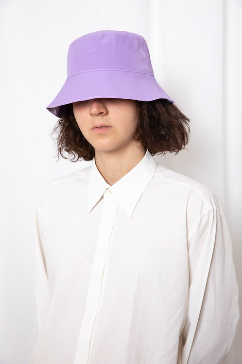 Violet & purple checkered hat