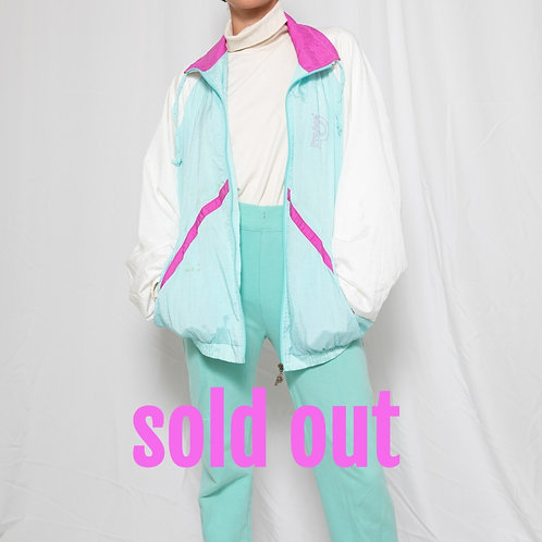 White & Blue nylon jacket- outlet