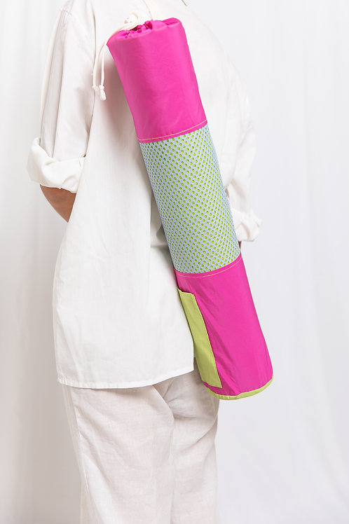 Pink Green Yoga Bag
