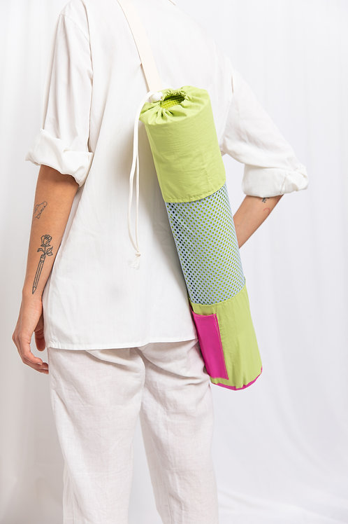 Green Pink Yoga Bag