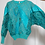 Thumbnail: 70s turquoise peacock sweater
