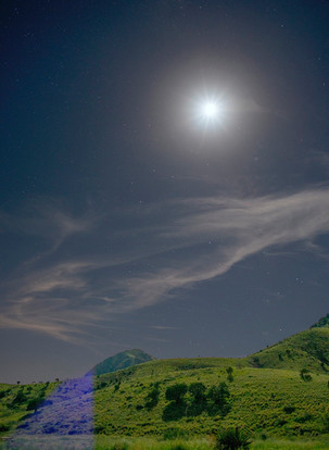 Moon Over the Mountain