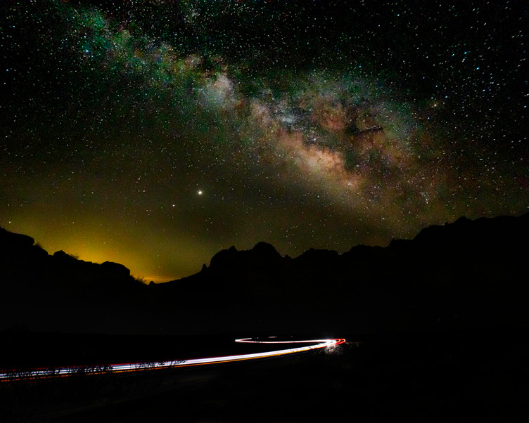 Milky Way over Spring Canyon
