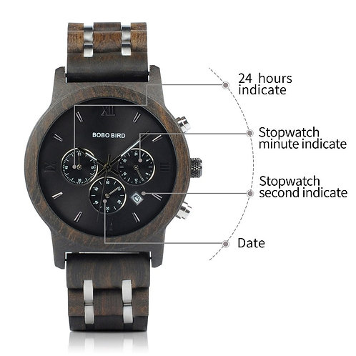 """""""The Executive"""" Wood Automatic Watch"""