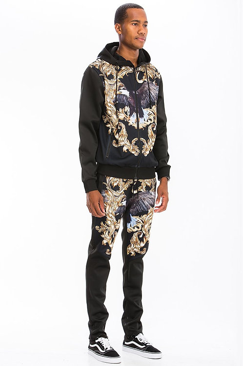 POLY SPAN Printed Track Suit