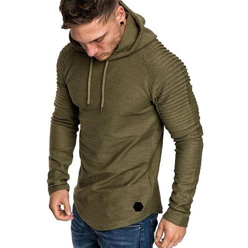 Men's Solid Color Slim Fit Hooded Sweatshirt