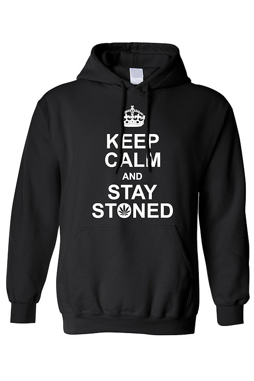 Keep Calm And Stay Stoned Men's/Unisex Pullover Hoodie