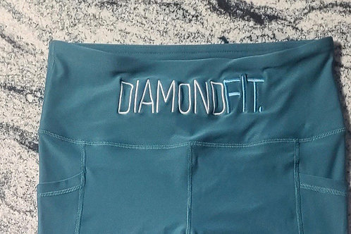 DIAMONDFIT Embroidered Tights - Large