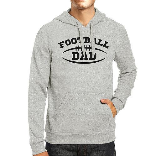 Football Dad Men's Grey Hoodie Funny Dad Hoodie