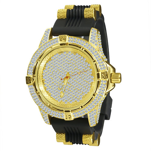 """""""The Crystal"""" Rubber Band Luxury Watch"""