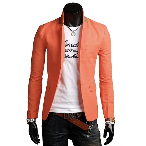 """Night Out""Mens Stand Collar Casual Blazer"