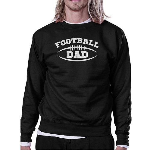 Football Dad Men Black Funny Design Sweatshirt For