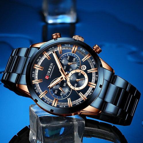 """""""True Blue"""" Stainless Steel Watch"""