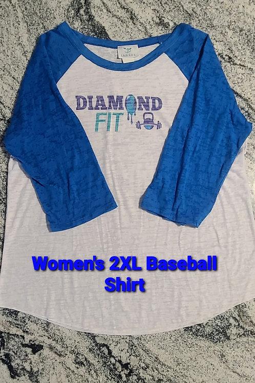 Women's Sublimation Baseball Style Tee - 2XL