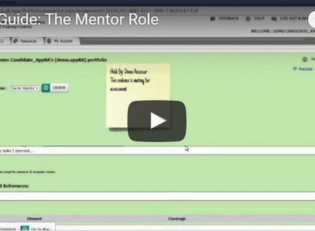 Ecordia Focus on Functionality:  The Mentor User Role