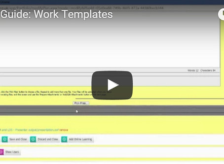 Ecordia Focus on Functionality:  Work Templates