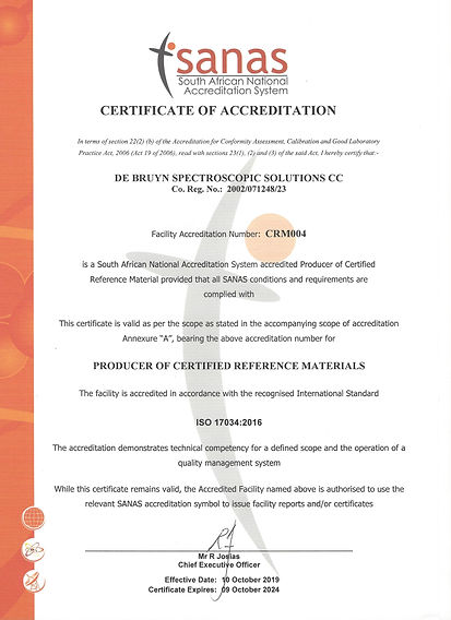 Certificate of Acreditation for CRM