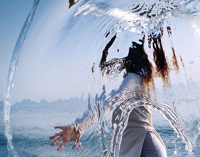 water, light, movement, dancer, refraction, reflection, sea, calabria, transparency