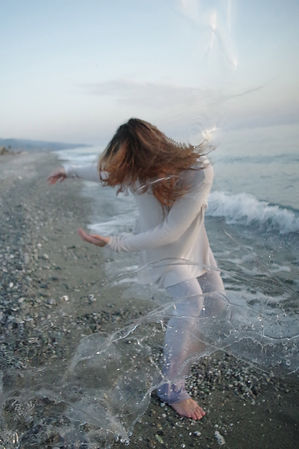 Ely Principe, water, light, movement, sea, calabria, dance