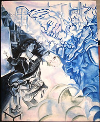 Chagall, backdrop, royal opera house, valeria latorre, london