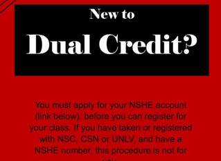 Dual Credit- Important Info