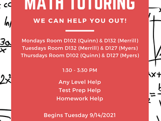 Math and Science Tutoring!