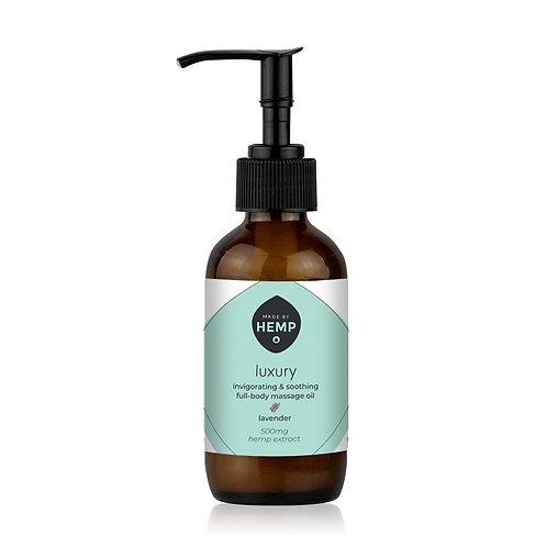 Luxury Massage Oil 3.4oz. 500mg   Full Spectrum   Ft Lavender  