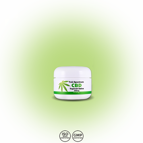 CBD Topical Salve | 500mg Hemp | Full Spectrum | Skin Care