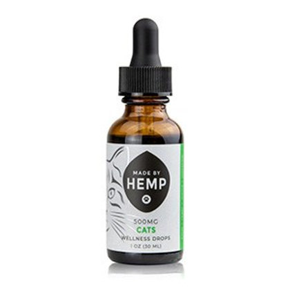 Wellness Drops for Cats 1oz (500mg) | Full Spectrum | Hemp Oil for Pets