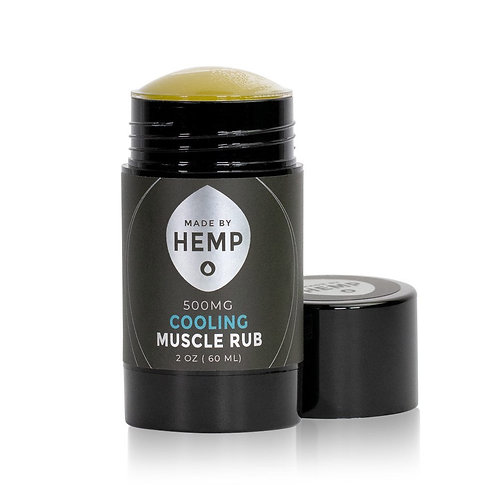 Cooling Muscle Rub 1.8oz. 500mg   Full Spectrum   Easy Push-Up Container   Hemp