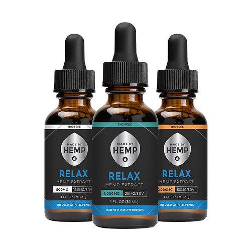Relax Hemp Extract 1oz. | THC-Free | 500mg | 1000mg | 2000mg
