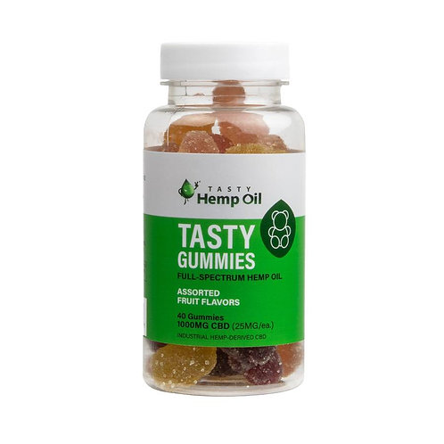 CBD Gummy Bears | 25mg CBD each | Fruit Flavor | 40ct